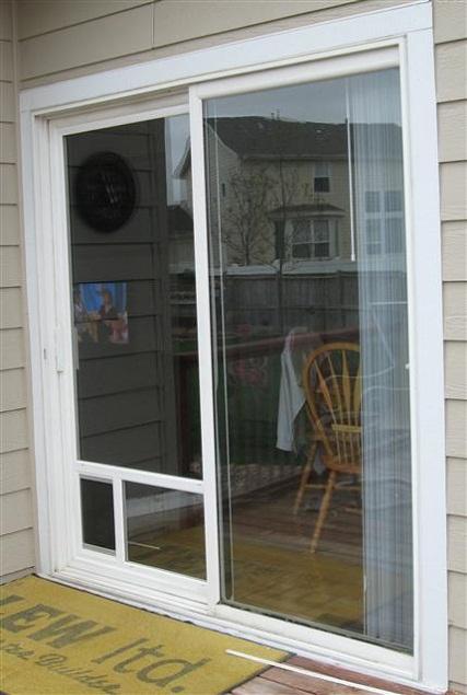 door with built in dog door photo - 8