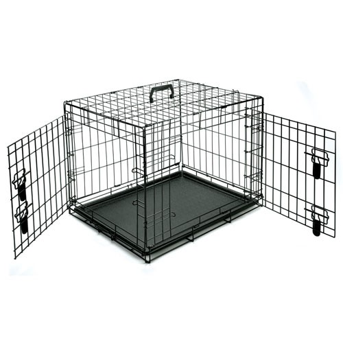 double door dog crate photo - 10