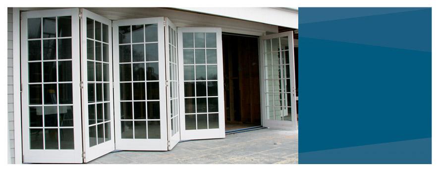 folding french doors exterior photo - 2