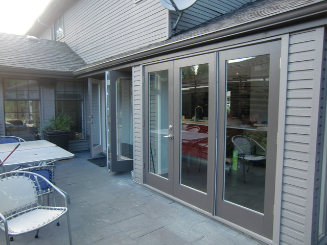 folding french doors exterior photo - 4