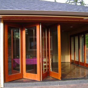 folding french doors exterior photo - 6