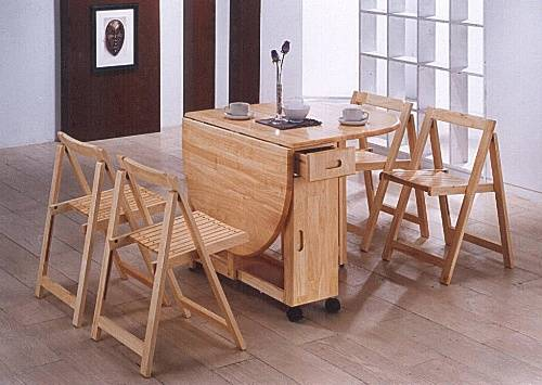 folding kitchen table and 4 chairs photo - 1