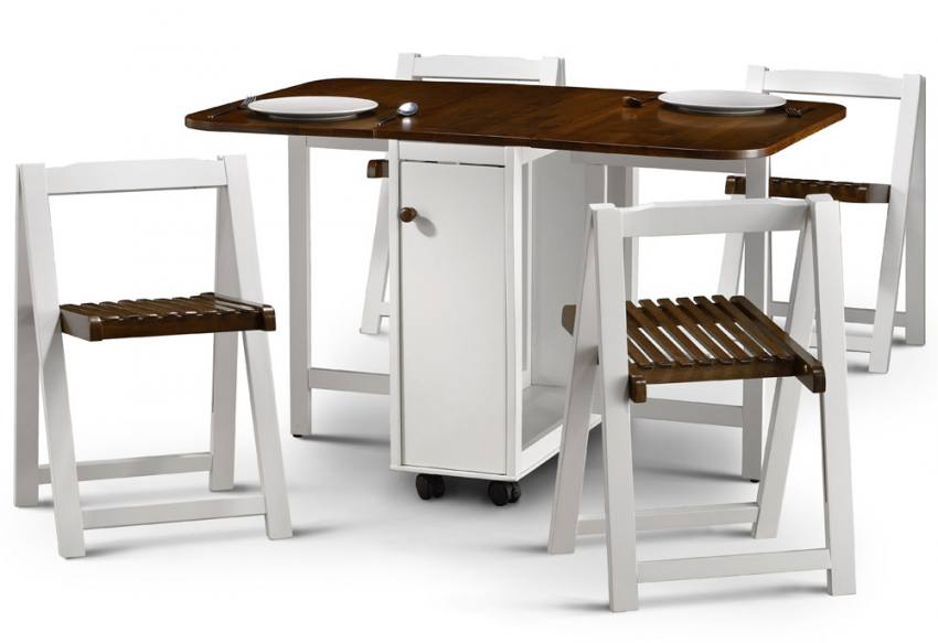 folding kitchen table and 4 chairs photo - 2