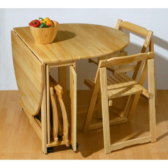 folding kitchen table and 4 chairs photo - 4