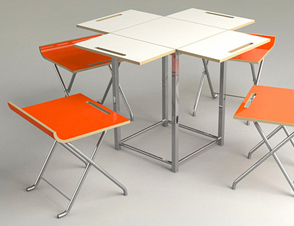 folding kitchen table and 4 chairs photo - 5