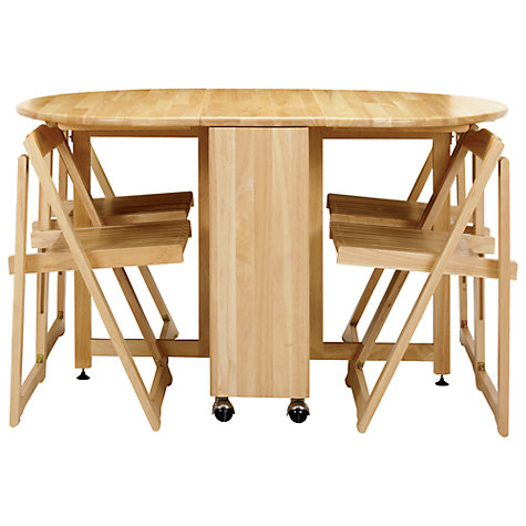 folding kitchen table and 4 chairs photo - 6