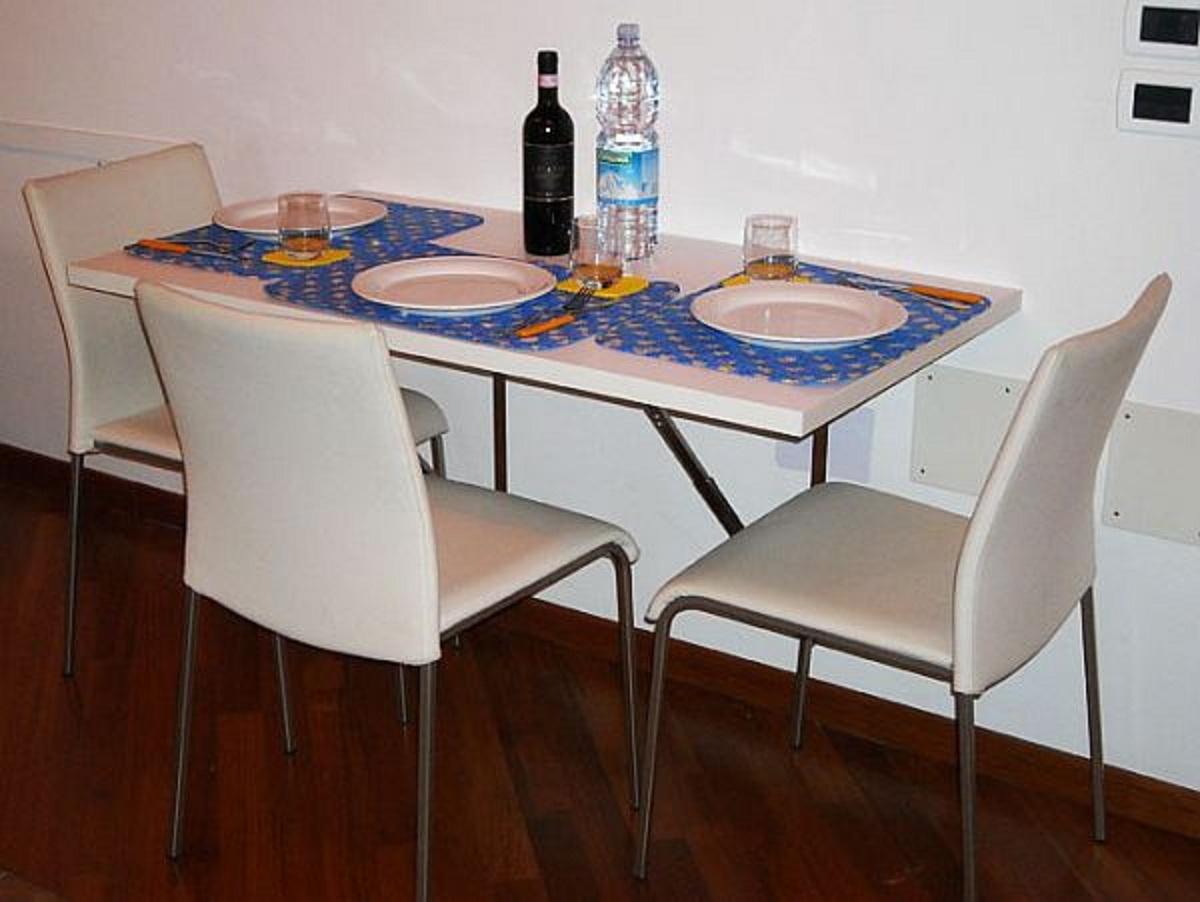 folding kitchen table wall mounted photo - 2