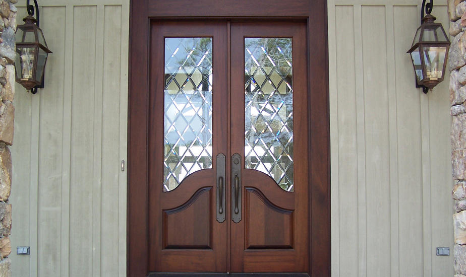 french country double entry doors photo - 3
