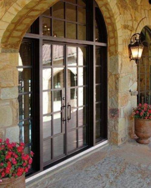 french country double entry doors photo - 4