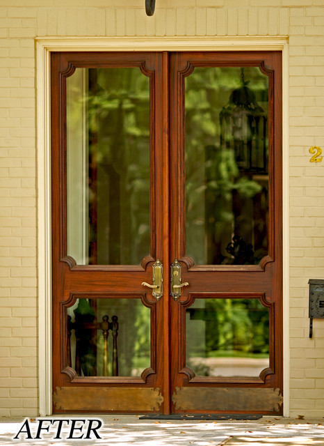 french country double entry doors photo - 5
