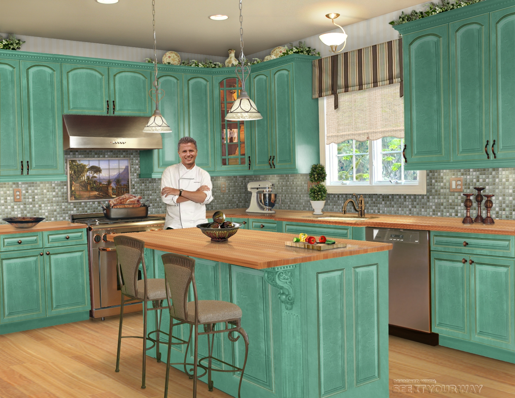 french country kitchen bar stools photo - 5