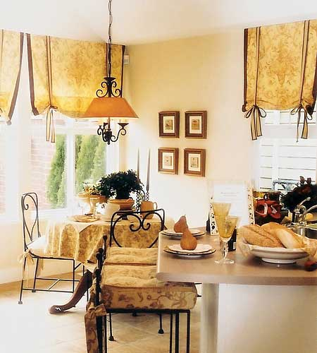 french country kitchen curtains photo - 1