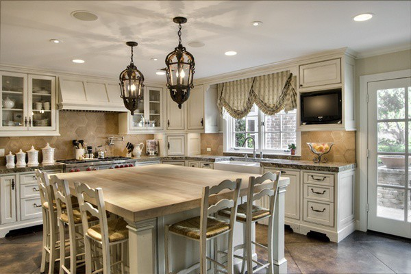 french country kitchen curtains photo - 2