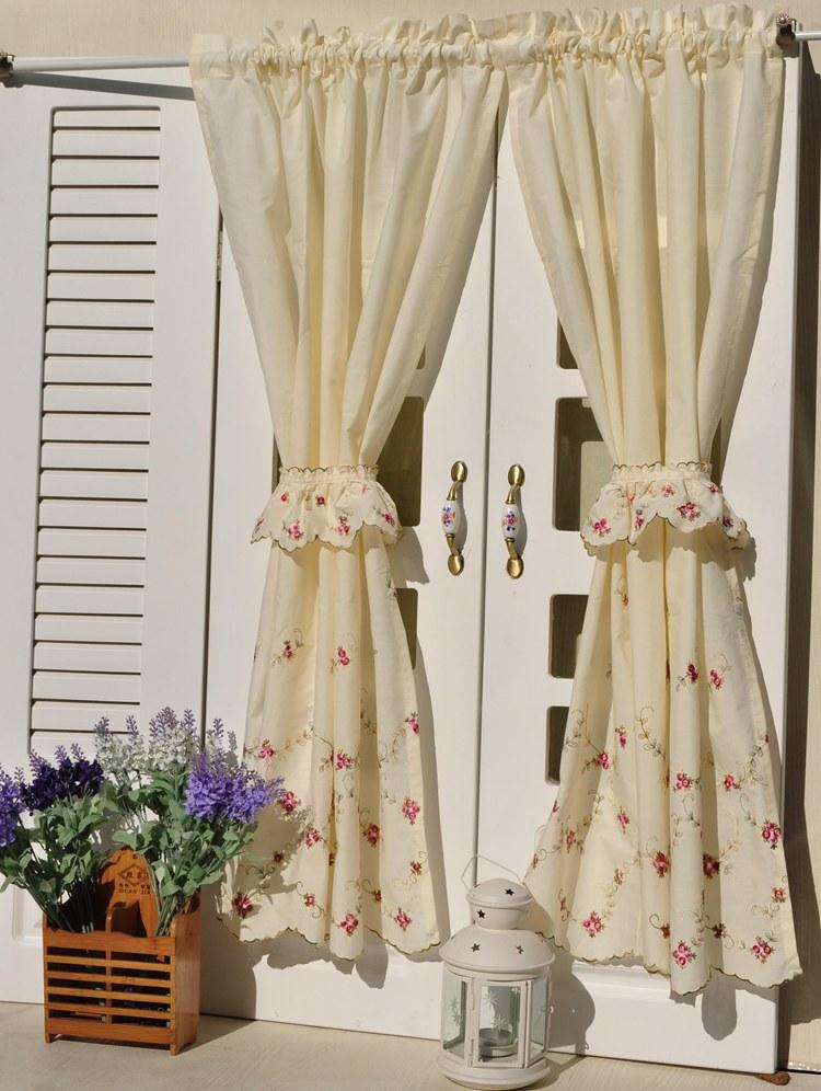 french country kitchen curtains photo - 3