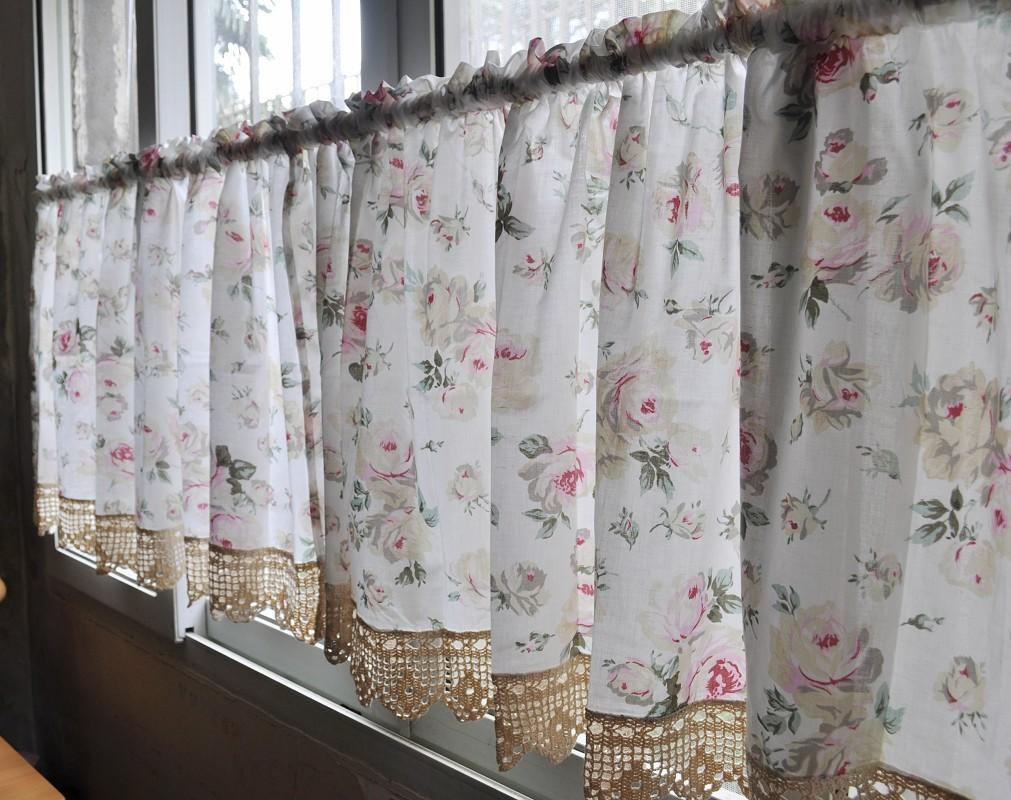 french country kitchen curtains photo - 5