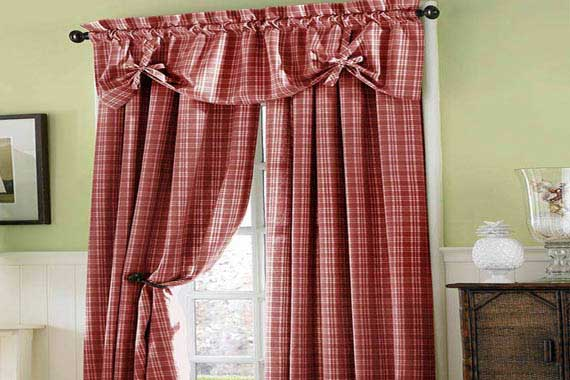 french country kitchen curtains photo - 6