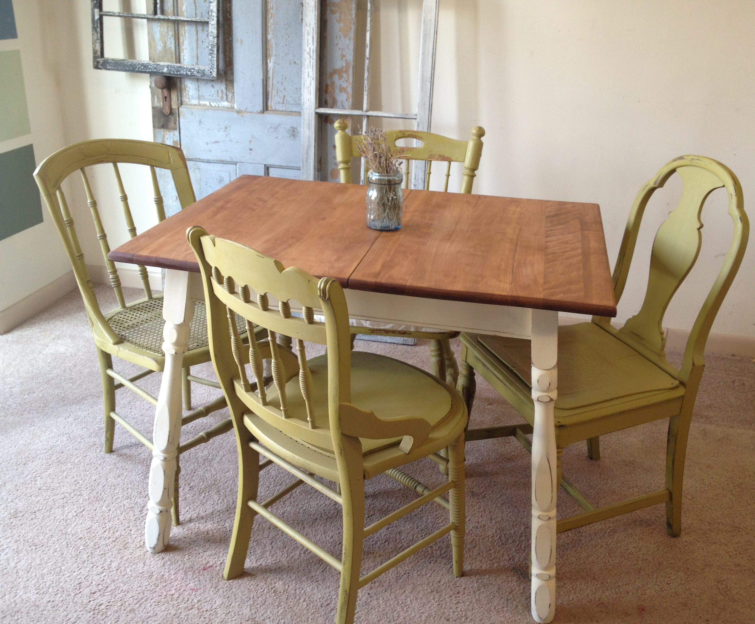 french country kitchen tables and chairs photo - 3