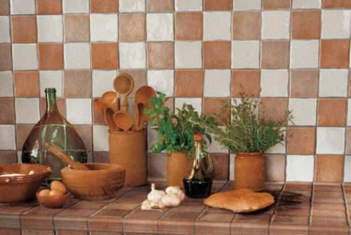 french country kitchen wall tiles photo - 1
