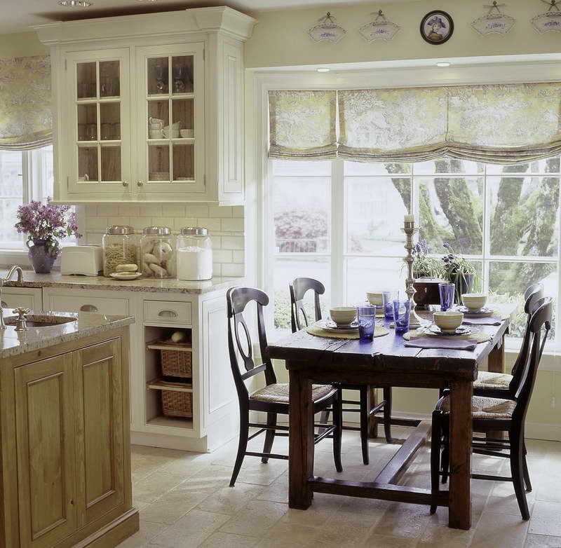 french country kitchen wall tiles photo - 2