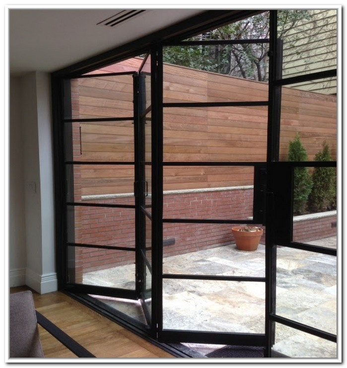 french doors exterior steel photo - 4