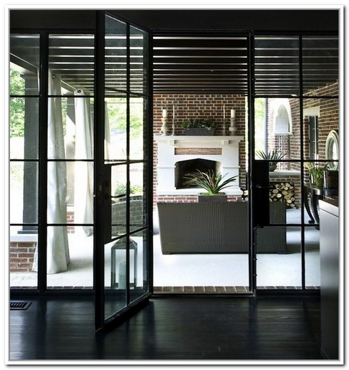 french doors exterior steel photo - 5