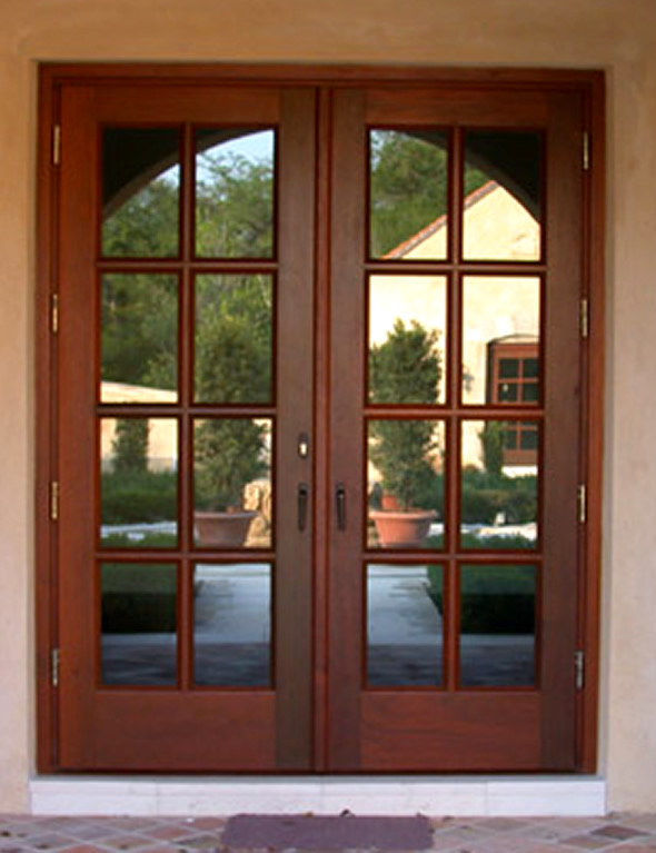 french doors exterior wood photo - 1