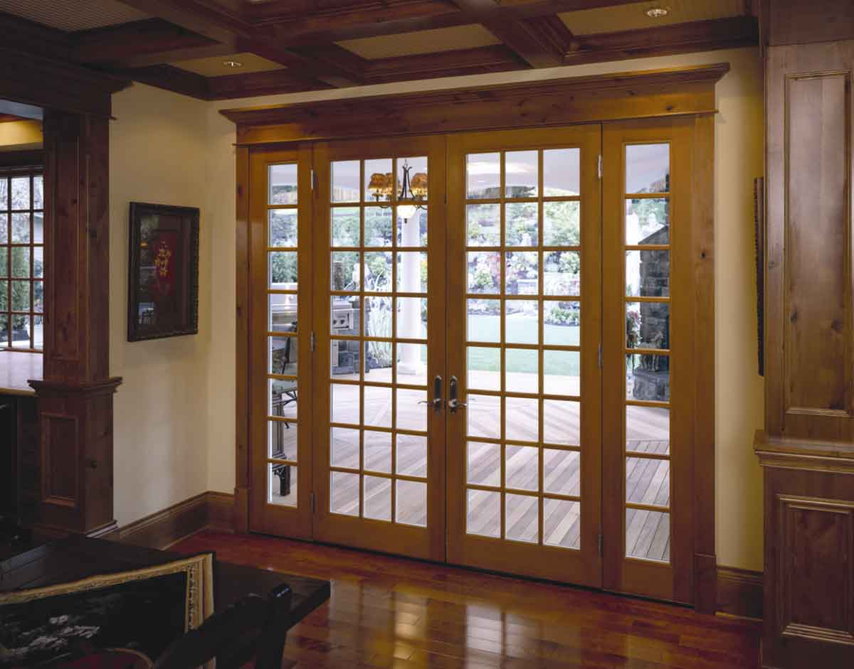 french doors exterior wood photo - 2