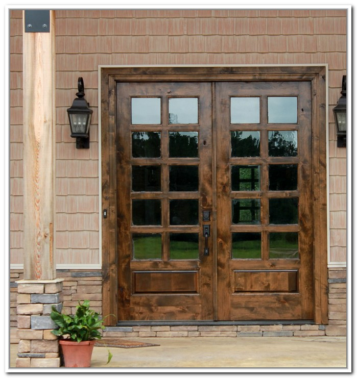 french doors exterior wood photo - 3