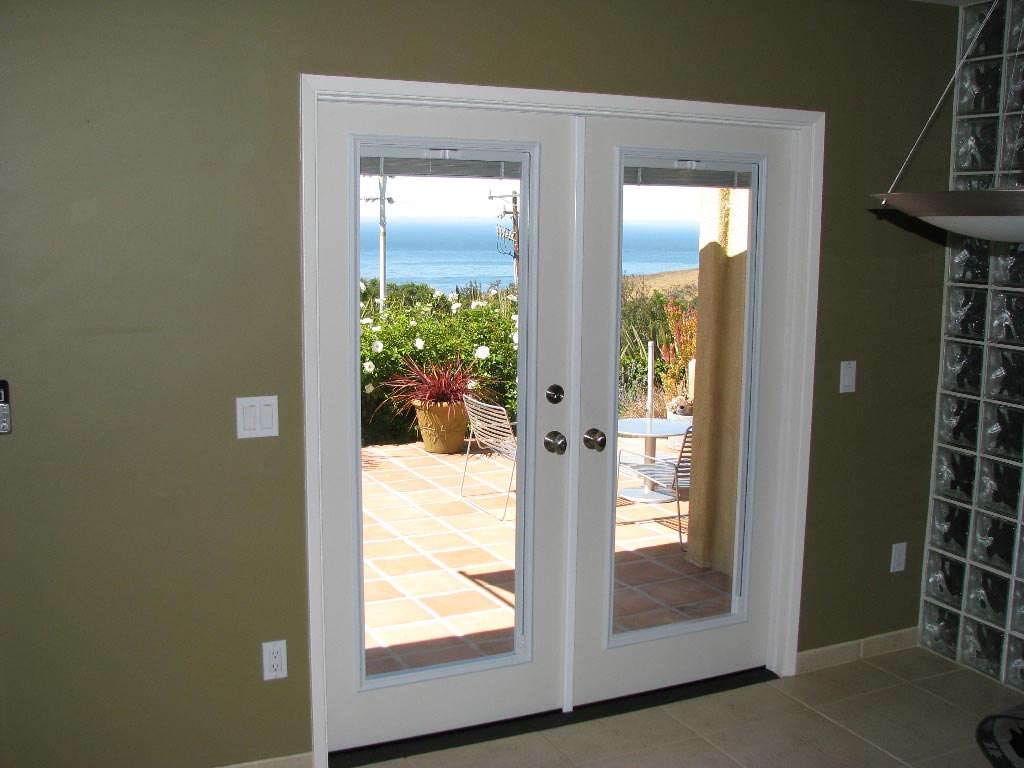 french doors interior blinds photo - 2