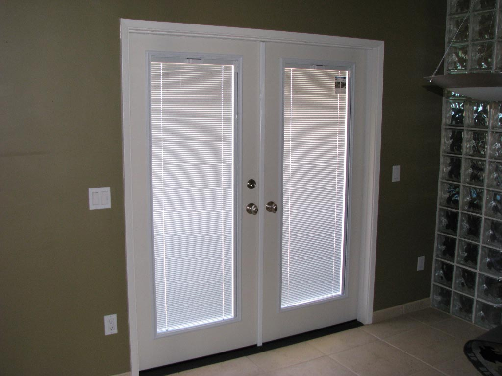 french doors interior blinds photo - 3