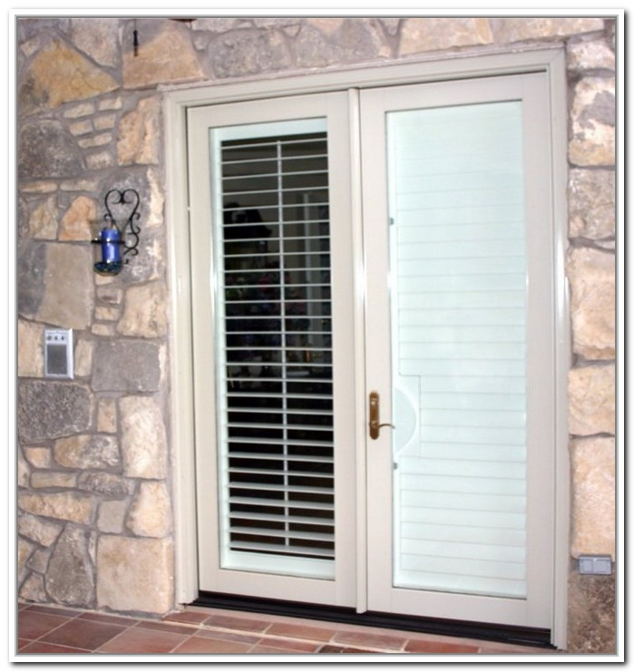 french doors interior blinds photo - 5