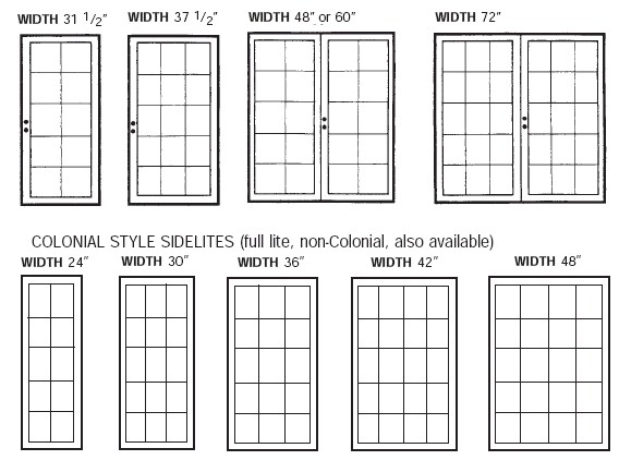 french doors interior dimensions photo - 2