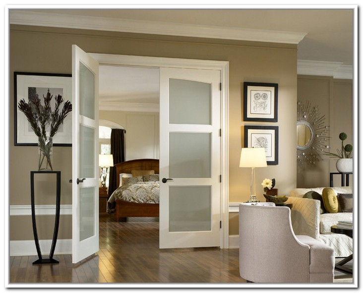 french doors interior frosted photo - 2