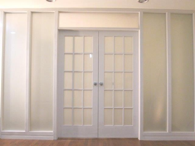french doors interior frosted photo - 4