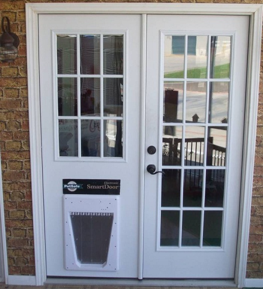 french doors with dog door photo - 1