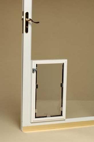 french doors with dog door photo - 8