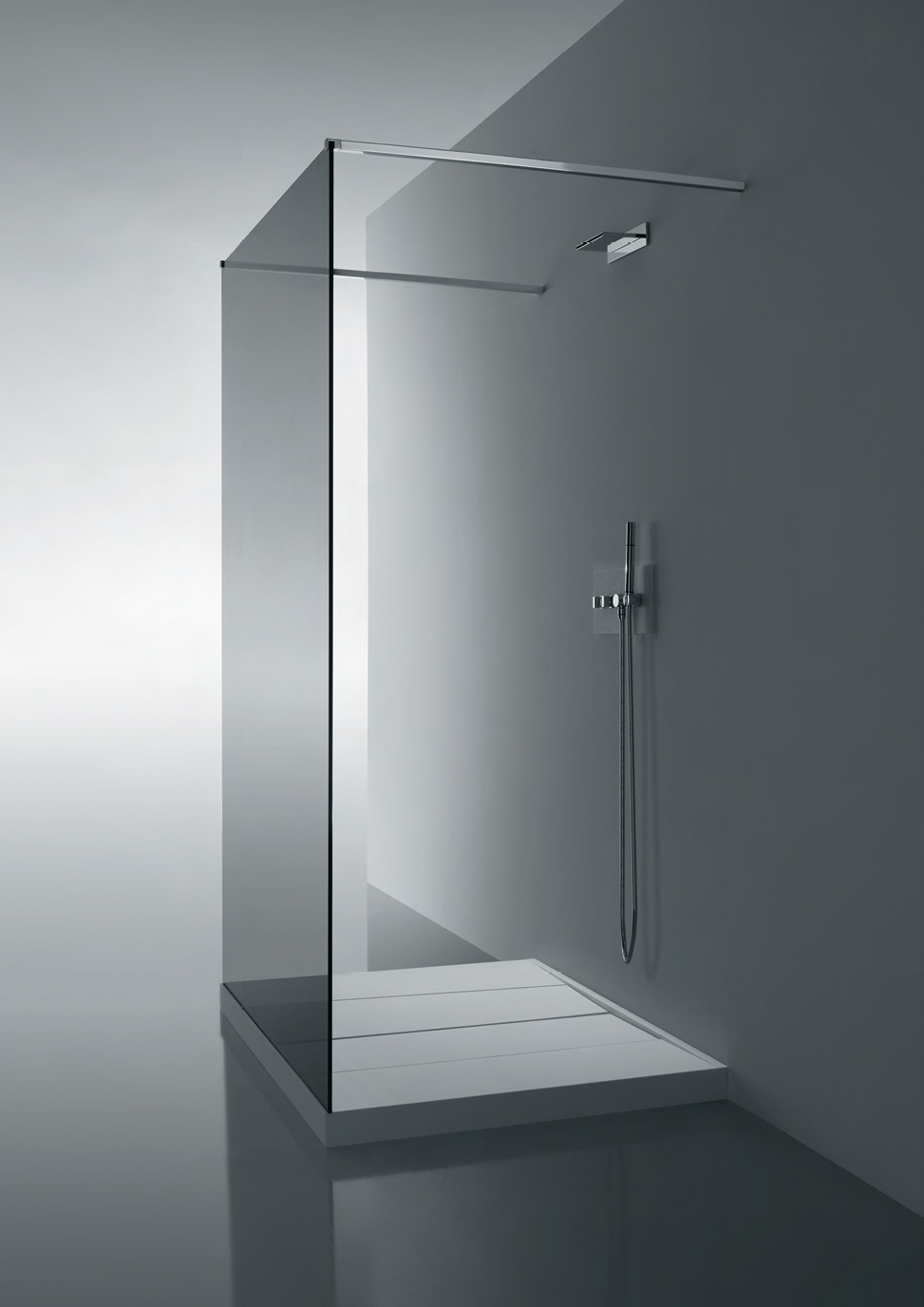 glass wall dividers bathroom photo - 1