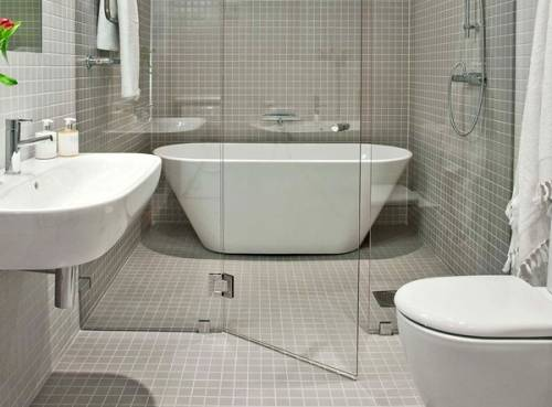 glass wall dividers bathroom photo - 3