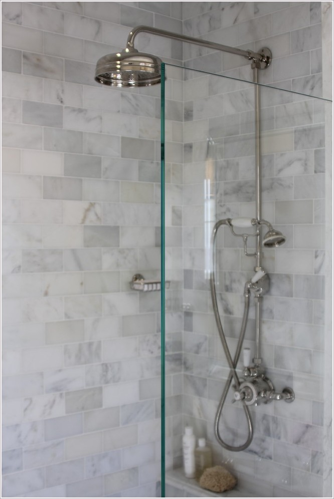 glass wall dividers bathroom photo - 5