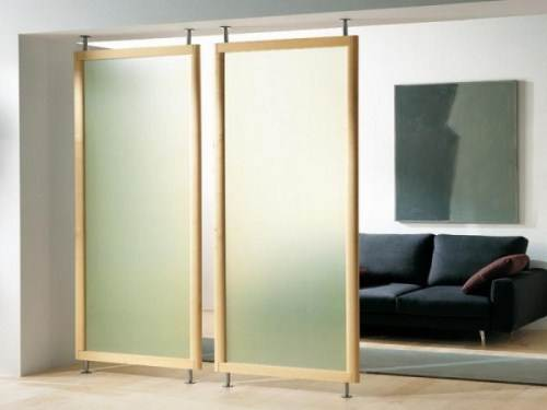 hanging room divider panels photo - 1