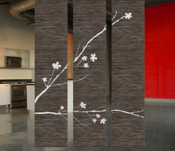 hanging room divider panels photo - 3