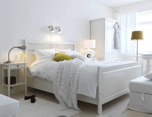 ikea white hemnes bedroom furniture photo - 1