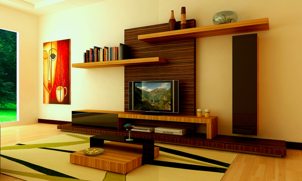 interior design ideas tv unit photo - 5