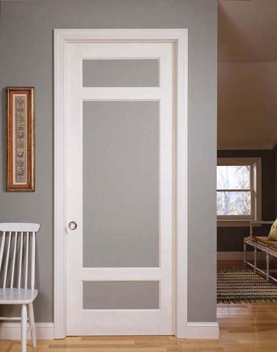 interior french doors frosted glass photo - 3