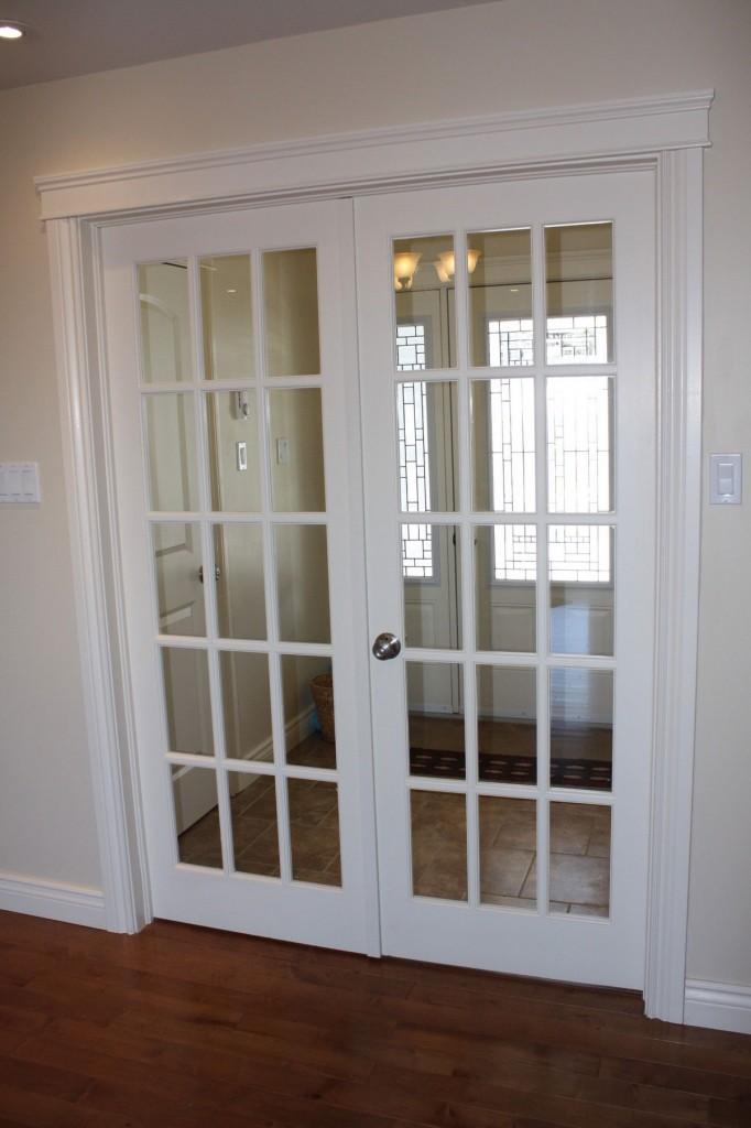 interior french doors white photo - 2