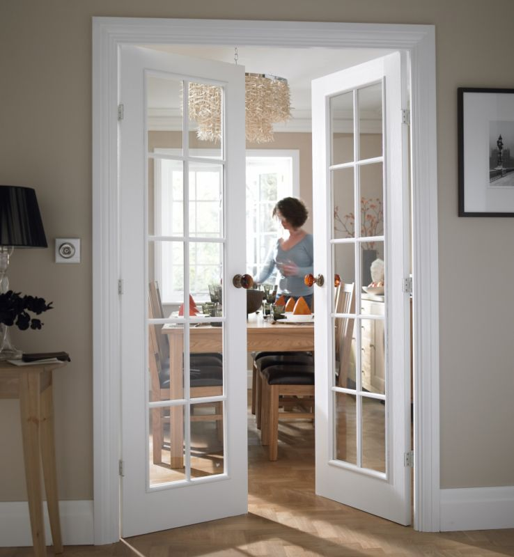 interior french doors white photo - 3