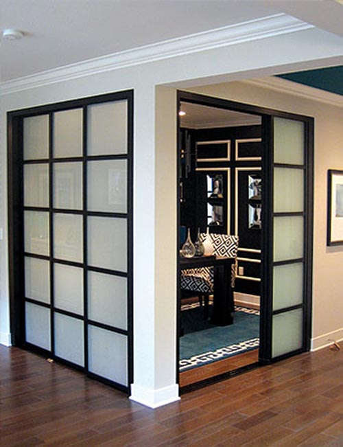 interior sliding doors room dividers photo - 1