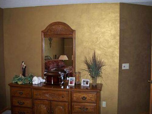 interior wall paint metallic photo - 5