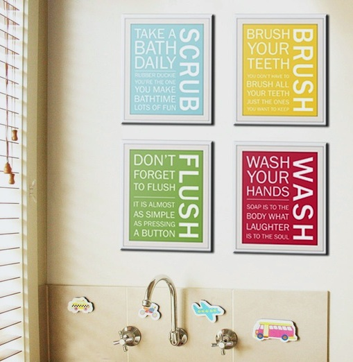 kids bathroom art ideas photo - 1