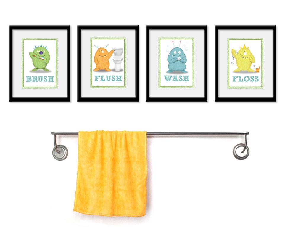 kids bathroom art ideas photo - 3